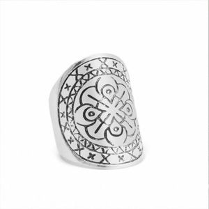 Ethics Carved Chunky Band Ring